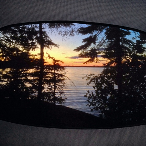 View from the tent, Isle Royale National Park, MN